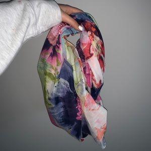 Floral Infiniti scarf